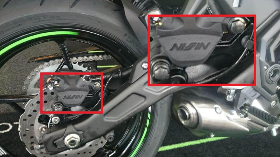 新型Ninja 650のブレーキキャリパーはNISSIN製