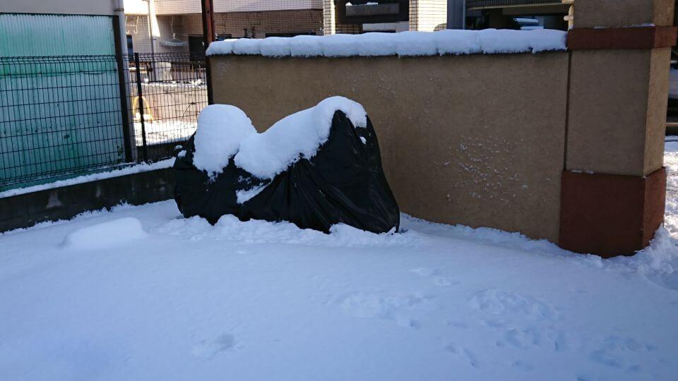 雪の中のNinja650
