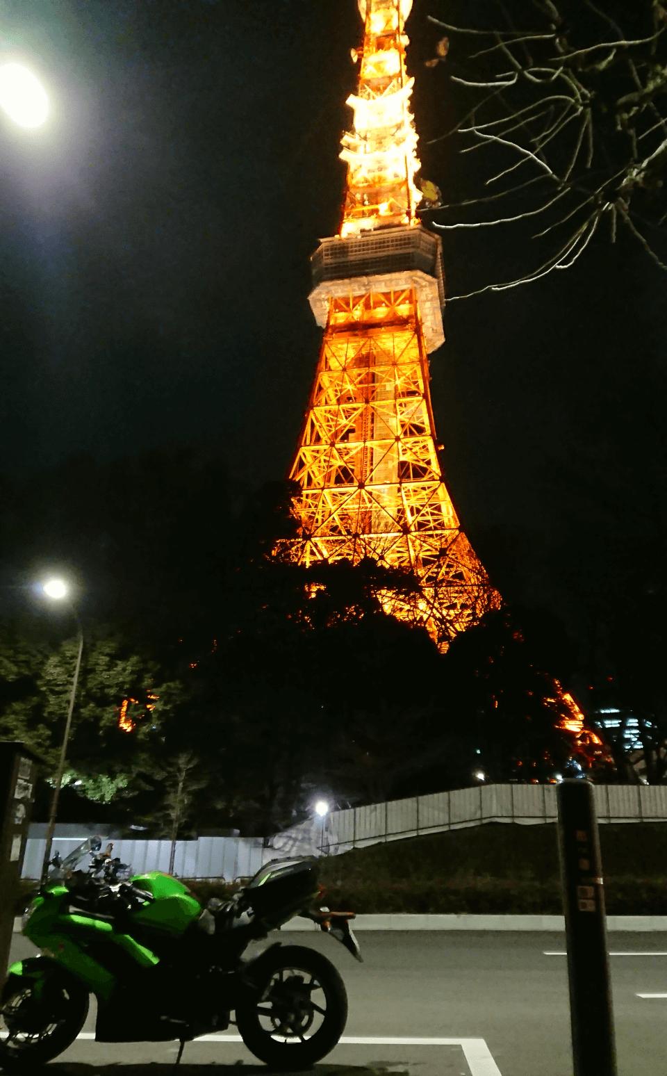 Ninja 650と東京タワー