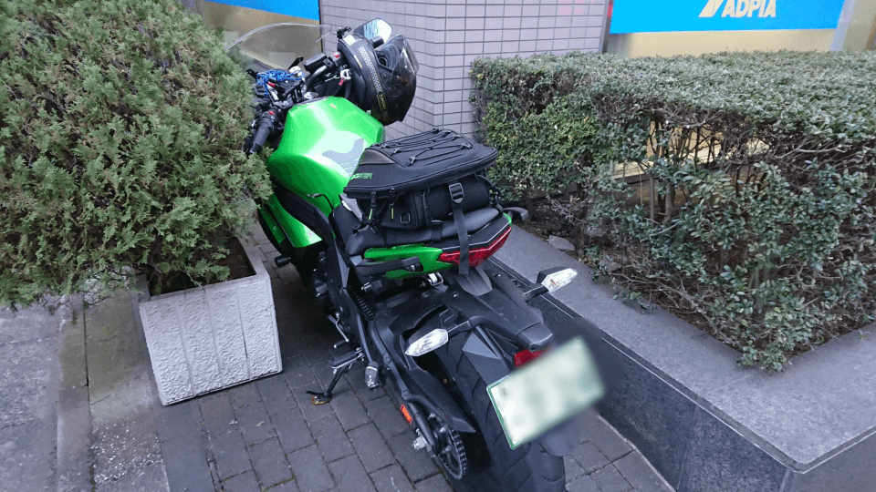 Ninja 650を停める