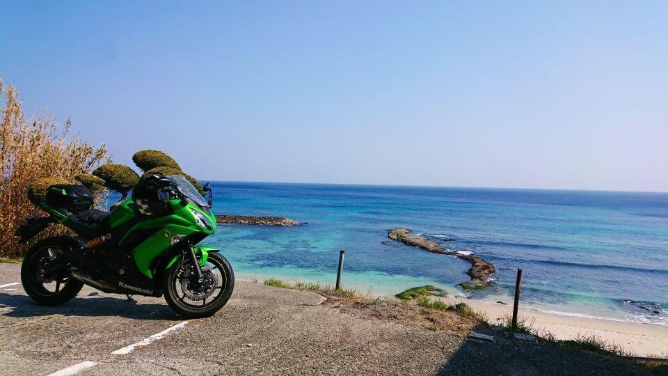ninja 650と南伊豆の海