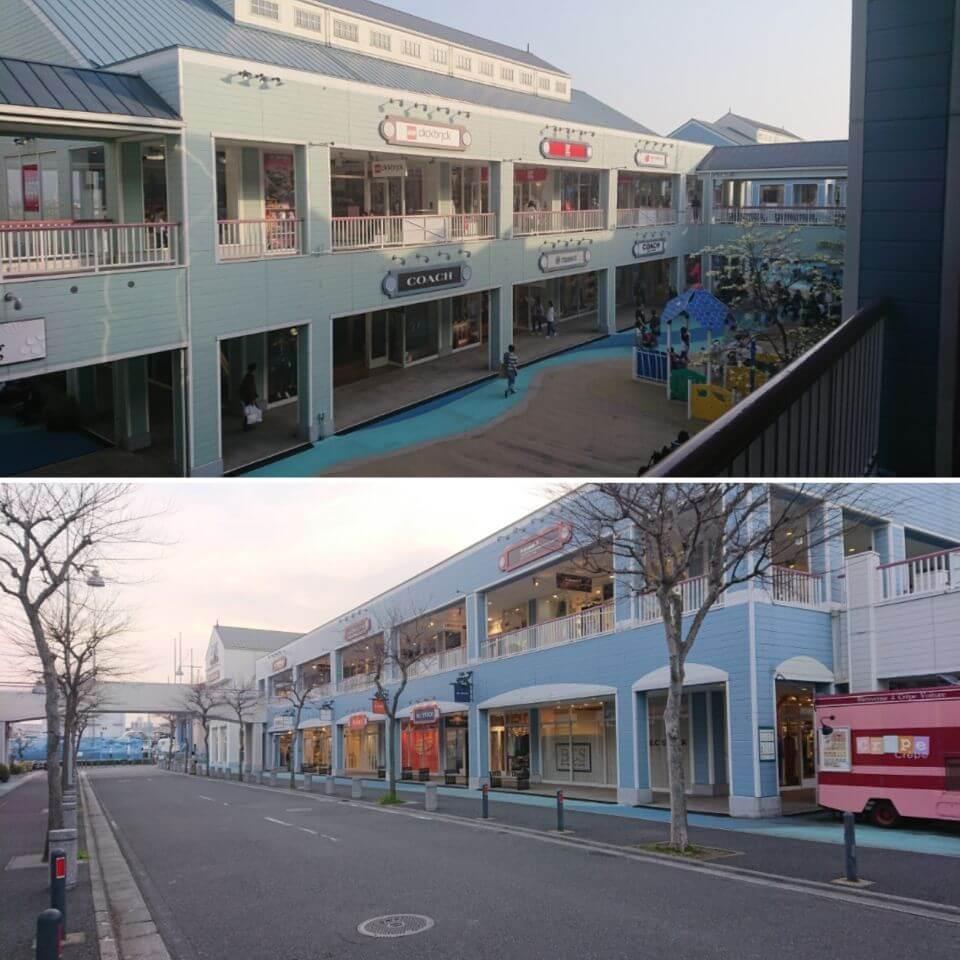 平日の三井アウトレットパーク